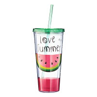 塑料随手杯吸管杯带盖水杯便携学生杯子创意礼品