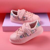 儿童运动鞋跑步休闲鞋男童女童字母小白鞋