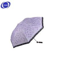 谋福 天堂春日畅想 晴雨伞 黑胶 防紫外线伞 折叠遮阳伞  紫色
