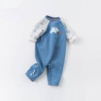 戴维贝拉婴儿连体衣2020秋装新款男宝新生儿连身衣婴幼儿爬服哈衣