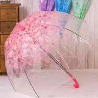 日式樱花伞韩式透明雨伞折叠小学生公主儿童女孩拱形小清新长柄伞