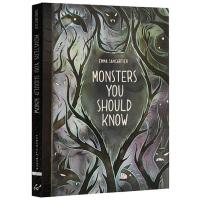 英文原版 Monsters You Should Know 怪物指南 精装魔幻故事绘本 插画系
