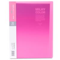 得力(deli) 5162 时尚彩色多页文件夹 20页资料册 粉色 当当自营