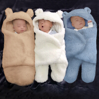 宝宝襁褓包巾春秋睡袋 抱被初生婴儿包被秋冬厚