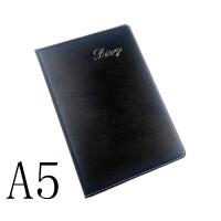 皮面笔记本 A5商务办公记事本 25k黑色仿皮本B5日记本子文具