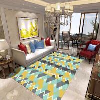 客厅地毯沙发茶几简约现代欧式卧室床边地垫房间家用水洗定制 浅灰色 【活力四射】