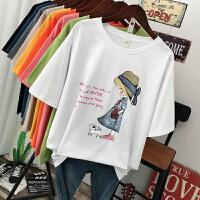 纯棉短袖t恤女纯棉2020夏季新款ins潮网红上衣宽松显瘦半袖体恤
