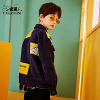 【3件2折:119元】小虎宝儿男童灯芯绒外套2021春装款儿童中大童韩版洋气潮