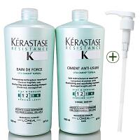 Kerastase/卡诗 双重强化系列洗发水1L+护发素1L洗护套装 进口专业洗护发  强韧柔顺护发