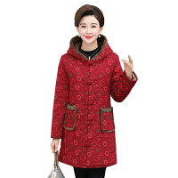 新年特惠中老年女装棉衣长外套妈妈装冬装长款棉袄老年人加绒加厚大码