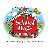 School Bugs: An Elementary Pop-up Book by David A. Carter 神奇动态体验立体认知书・上学啦,小虫虫:学校生活