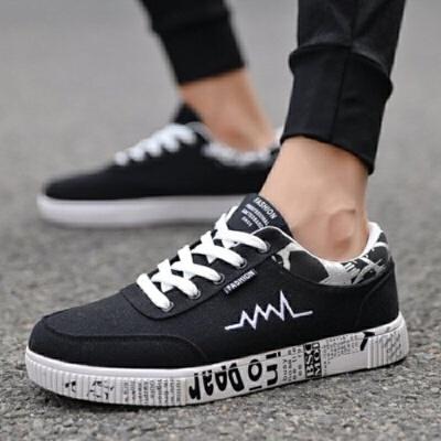 板鞋子男鞋时尚民族风休闲鞋韩版潮流嘻哈运动鞋平底学生帆布鞋   冬季时尚新款女鞋 男鞋