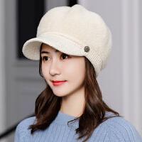帽子女秋冬季韩版时尚保暖冬天女士百搭新款贝雷鸭舌帽针织毛线帽