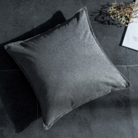 纯色棉麻靠垫抱枕套不含芯床头靠背垫酒店办公室沙发靠枕腰靠
