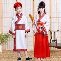 国学服女小学生三字经弟子规书童演出服儿童汉服古装