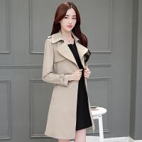 新年特惠2019春秋新款韩版上衣修身显瘦中长款女式风衣外套秋款修身女外套
