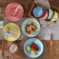 日式家用陶瓷礼品餐具组合礼盒装碗筷碗盘碗碟套装盘子碗米饭碗