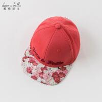 davebella戴维贝拉春季新款女童帽子中大童鸭舌帽DBK8737