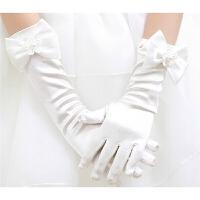 儿童手套分指蝴蝶结长款婚纱礼服手套