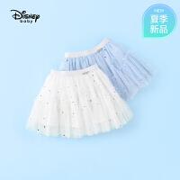 【2件3折价:60.9】迪士尼宝宝快乐星球女童网纱甜美短裙夏季新品