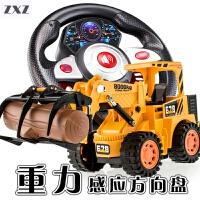 遥控工程车 电动玩具车 仿真抓木车 夹木车伐木车 叉车 吊车 模型