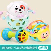 手摇铃玩具婴儿童宝宝手抓可咬软胶男孩女孩益智