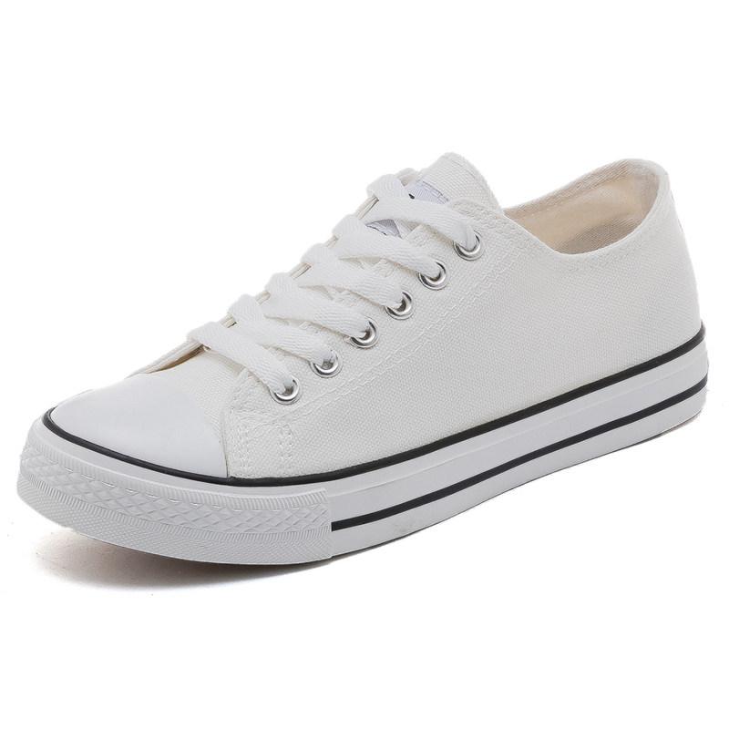 复古板鞋女百搭小白鞋2019学生韩版帆布鞋   冬季时尚新款女鞋 男鞋