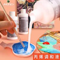马利丙烯颜料专用调和液100ML液态流体绘画助流材料美术用品中稀释剂媒介增加耐晒度光泽度