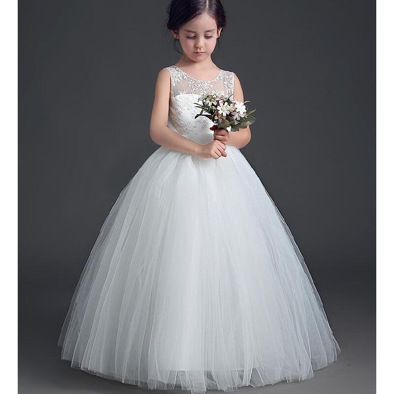 花童礼服女儿童公主裙蓬蓬生日钢琴演出服主持人表演裙春