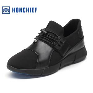 红蜻蜓旗下品牌 HONCHIEF鞋休闲鞋秋冬鞋子男板鞋KTA1015