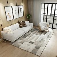 北欧风格几何图案地毯客厅欧式现代沙发茶几卧室床边长方形y 灰色 灰色过度