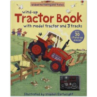 英文原版 发条轨道书:拖拉机 Farmyard Tales Wind-up Tractor Book wind-up