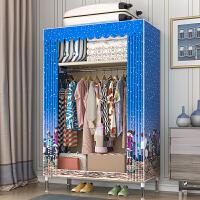 索尔诺 简易衣柜现代简约布衣柜钢管加粗加固出租房用家用卧室收纳挂柜子单人双人布衣柜1960