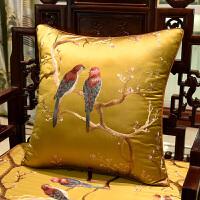现代中式椅垫家具沙发垫太师椅圈椅坐垫实木罗汉床垫加厚定做定制 金色 吉祥鸟