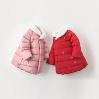 davebella戴维贝拉童装冬季新款女童宝宝90绒保暖羽绒服DBZ8990