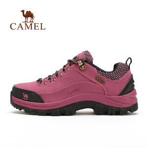 camel骆驼户外新款徒步鞋女低帮系带耐磨登山鞋