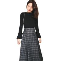 新年特惠秋冬装新款法式大码女装微胖mm洋气显瘦两件套装裙遮肚连衣裙减龄 图片色