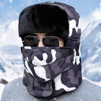 帽子男士韩版保暖棉帽户外防寒雷锋帽东北加厚加绒女冬季骑车防风