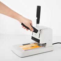 3878凭证装订机财务铆管档案会计合同手动打孔热熔电动热铆胶装机装订机会计文件整理快捷打孔厚度25mm