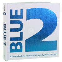 现货 英文原版 Blue 2:A Pop-Up Book for Children of All Ages