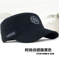 男士帽子平顶帽军帽时尚户外帽子男韩版 潮男帽 运动