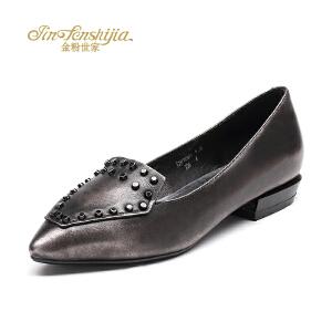 红蜻蜓旗下品牌金粉世家秋冬女鞋秋冬休闲鞋鞋子女单鞋JZB1034