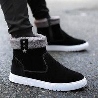 马丁短靴韩版潮冬鞋冬季男鞋加绒保暖棉鞋休闲高帮男士雪地靴加厚