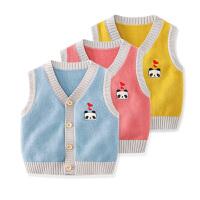 婴儿针织背心春秋冬加厚保暖内外穿男女宝宝马甲婴幼儿小背心