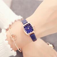 手表女方形款大气时尚潮流中学生韩版简约皮带女表防水