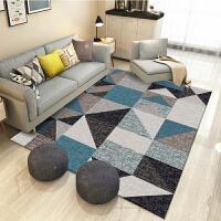 北欧客厅地毯沙发茶几垫子简约现代卧室满铺家用几何图案地毯垫地y