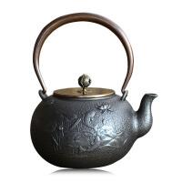 铸铁泡茶烧水壶煮茶器电陶炉茶炉功夫茶具连年有余铁壶铸铁泡茶纯手工茶壶电陶炉礼品套装