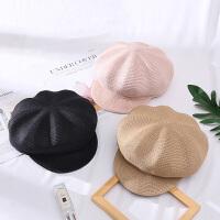 儿童夏季新款八角草帽韩版宝宝蓓蕾帽女童防晒遮阳帽沙滩帽