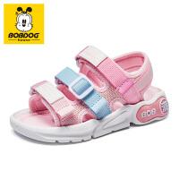 巴布豆童鞋男童凉鞋2021年夏季新款儿童鞋子女软底中大童沙滩鞋潮-樱花粉