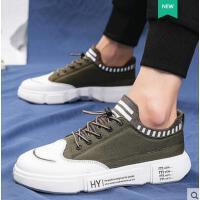 新款男士休闲板鞋百搭透气帆布鞋韩版潮流学生跑步潮鞋板鞋户外新品网红同款